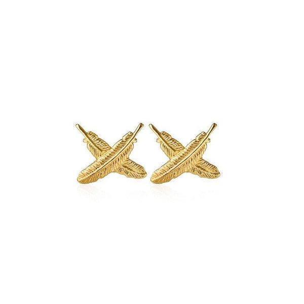 Boh Runga Feather Kisses Studs - 9ct Yellow Gold