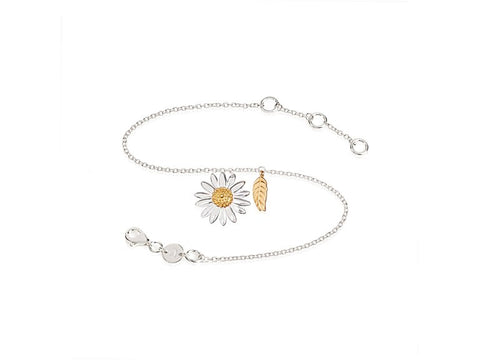Daisy London English Daisy & Feather Drop Bracelet