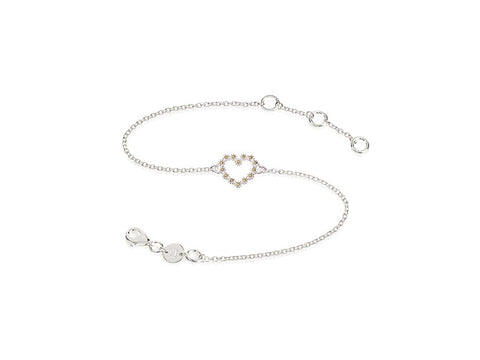 Daisy London Iota Daisy Heart Bracelet