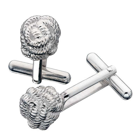 Karen Walker Cufflinks, Rope Ball - Silver