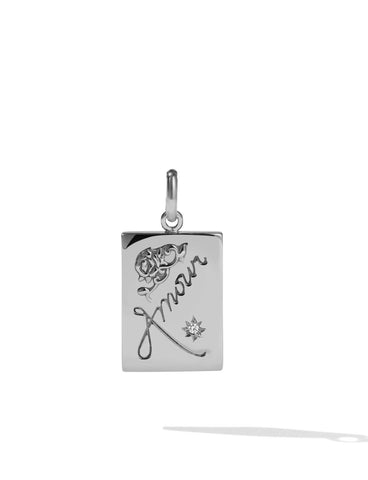 Meadowlark - Amour Charm - Silver - White Diamond