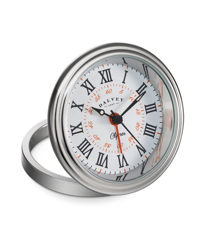 Dalvey Scotland Clipper Clock White & Orange - 3278