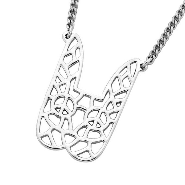 Karen Walker Filigree Rabbit Pendant - Silver