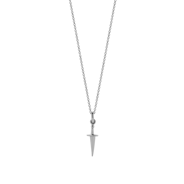Meadowlark Dagger Charm Necklace  - Sterling Silver