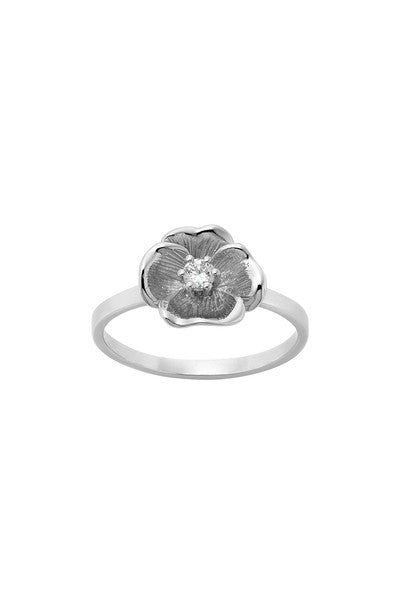 Karen Walker Diamond Etch Pansy Ring