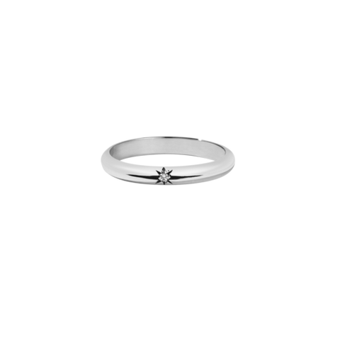 Meadowlark Diamond Star Band Round - Sterling Silver & White Diamond