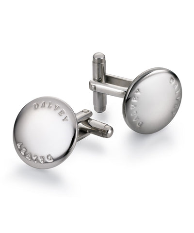 Dalvey Scotland Discus Cufflinks Stainless Steel - 782
