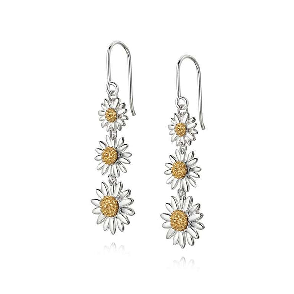 Daisy London English Triple Drop Earrings