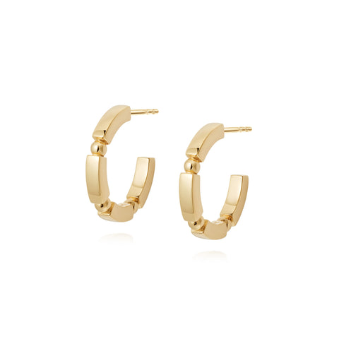 Daisy London Stacked Chunky Midi Hoops - Gold Plate