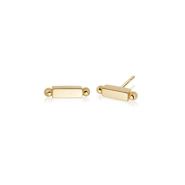 Daisy London Stacked Bar Studs - Gold Plate