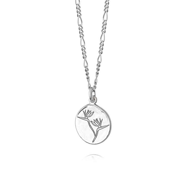 Daisy London Bird of Paradise Necklace Silver