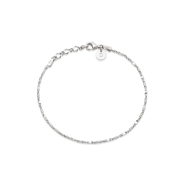 Daisy London Tidal Twist Anklet - Silver