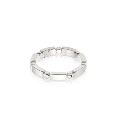 Daisy London Stacked Chunky Ring Sterling Silver - Large