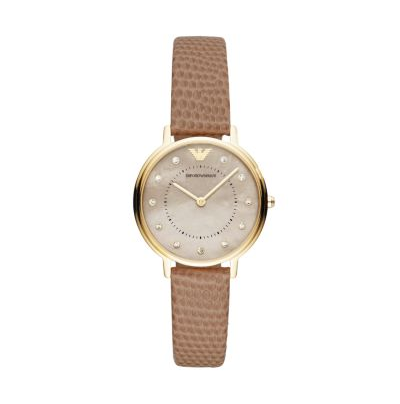 Emporio Armani Bone Leather Womens Watch - AR11151