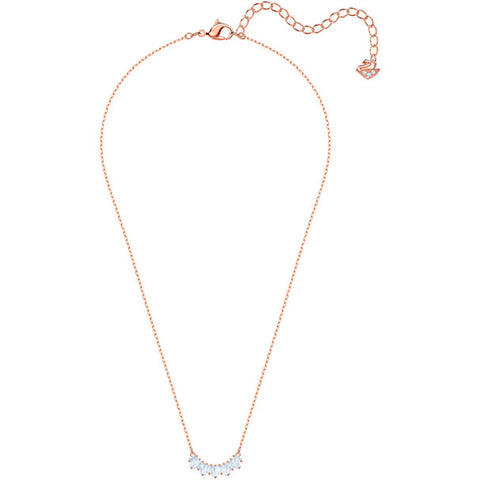 Sunshine Necklace, White, Rose Gold Plating