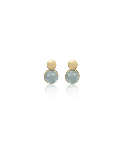 Edge of Ember Dual Aquamarine Stud Earrings