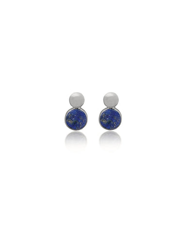Edge of Ember Dual Lapis Stud Earrings