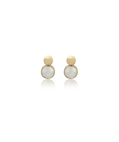 Edge of Ember Dual Moonstone Stud Earrings