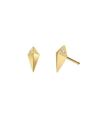 Edge of Ember Spike Gold Studs