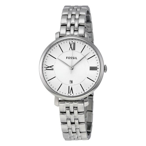 Fossil - Jacqueline Silver Dial Stainless Steel - Ladies Watch - ES3433