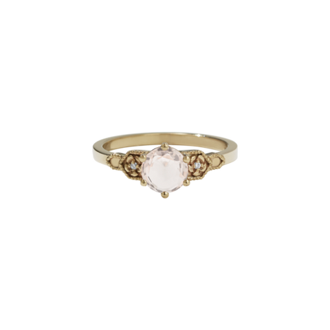 Meadowlark Eternal Engagement Ring 0.8ct - 9ct Yellow Gold, Morganite & White Diamond