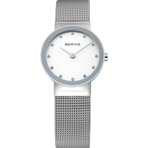 Bering Ladies Classic Polished Silver Watch 10126-000