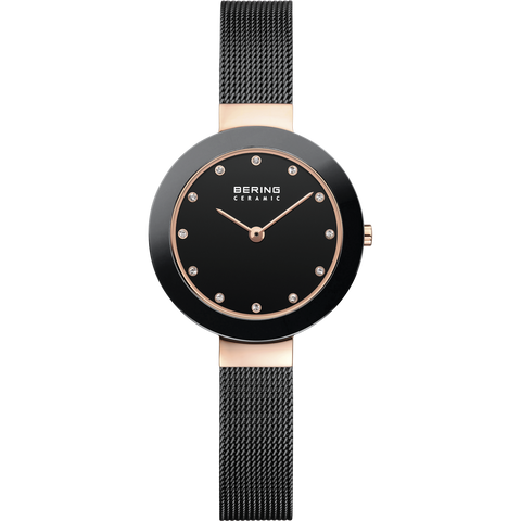 Bering Black & Rose Ladies Watch 11429-166