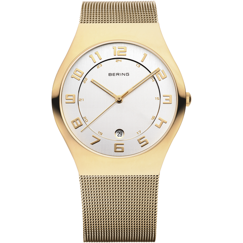 Bering Gents Gold Mesh Watch 11937-334