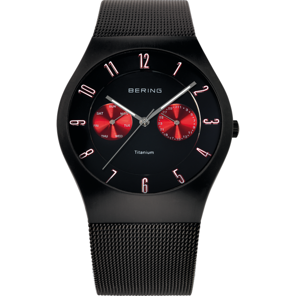 Bering Gents Black Mesh Chrono Watch 11939-229
