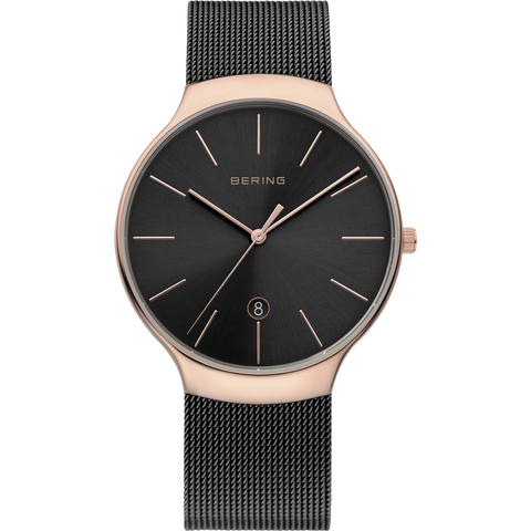 Bering Gents Classic Polished Rose Gold Watch 13338-262
