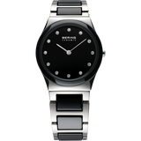 Bering Ladies Black and Steel Ceramic Watch 32230-742