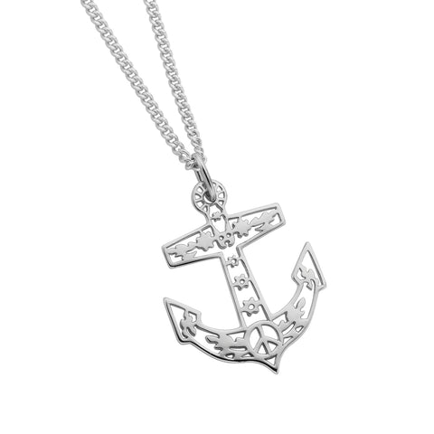 Karen Walker Filigree Anchor Pendant - 45cm