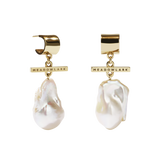 Meadowlark - Halcyon - Fob Pearl Drop Earrings 9ct & Goldplate