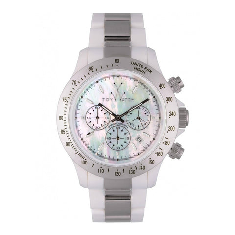 TOYWATCH - SILVER & WHITE PLASTIC HEAVY METAL