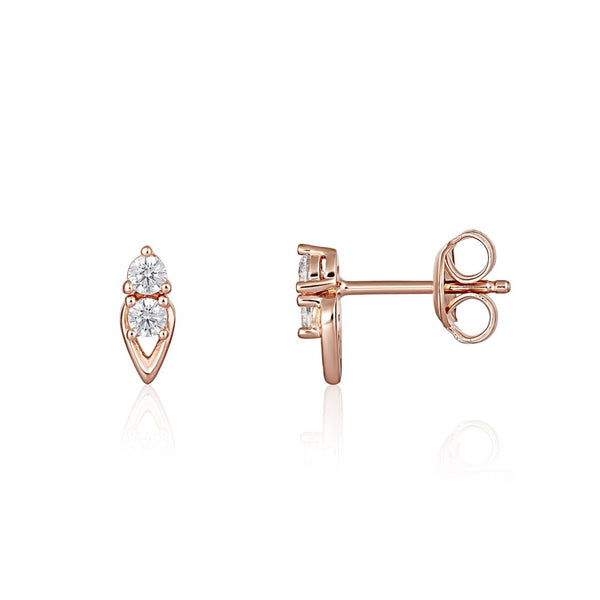 Georgini - Heirloom Keepsake Earrings - Rose Gold