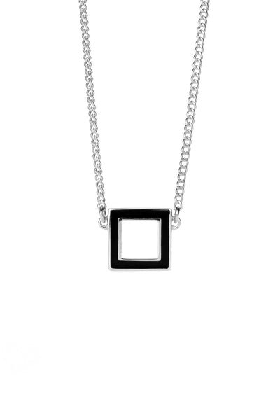 KAREN WALKER IGNITION ENAMEL NECKLACE SILVER