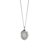 Meadowlark - Halcyon - Inez Necklace Stg reclaimed White diamond