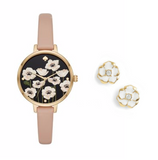 Kate Spade Poppy Metro Watch & Earrings Box Set KSW1375BOX