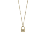 Meadowlark Lock Charm Necklace - 9ct Yellow Gold