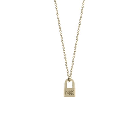 Meadowlark Lock Charm Necklace - Gold Plated