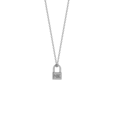 Meadowlark Medium Lock Necklace - Sterling Silver