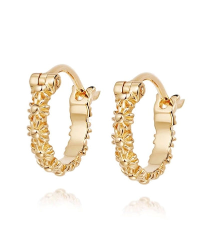 Daisy London - Vintage Daisy 10mm Lota Hoop Earrings