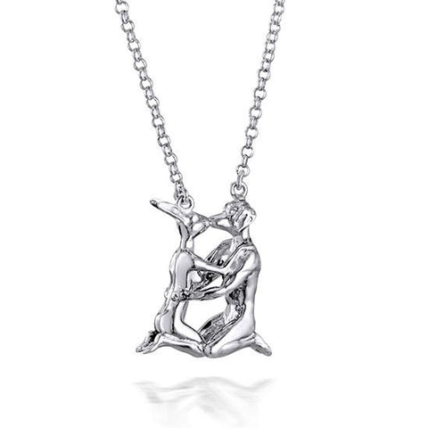 Gillie and Marc - She Was His Last First Kiss Pendant (On Silver Chain)