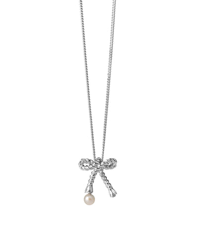 Karen Walker Love Knot Necklace Silver