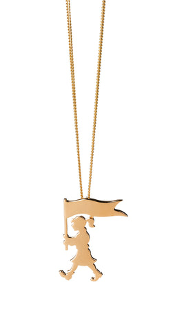 Karen Walker - Marching Girl - 9ct Yellow Gold