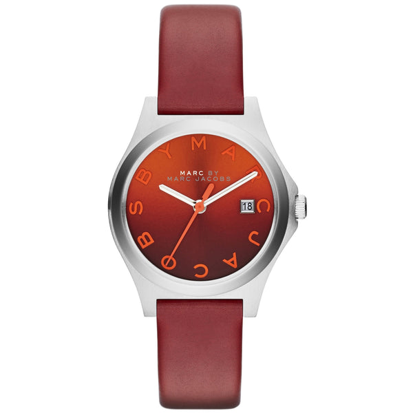 Marc Jacobs 'The Slim' Watch - Red Leather MBM1322