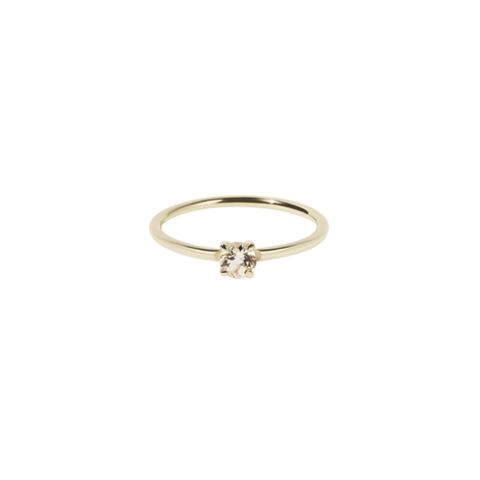 Meadowlark Micro Round Ring - 9ct Yellow Gold & Morganite
