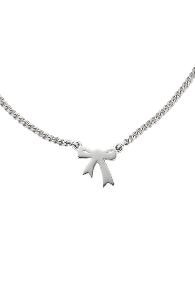 Karen Walker Mini Bow Necklace - Silver