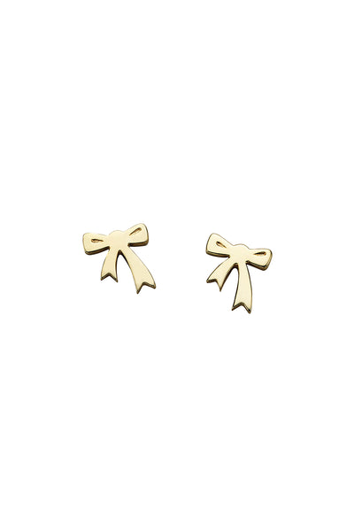 Karen Walker Mini Bow Studs - 9ct Gold