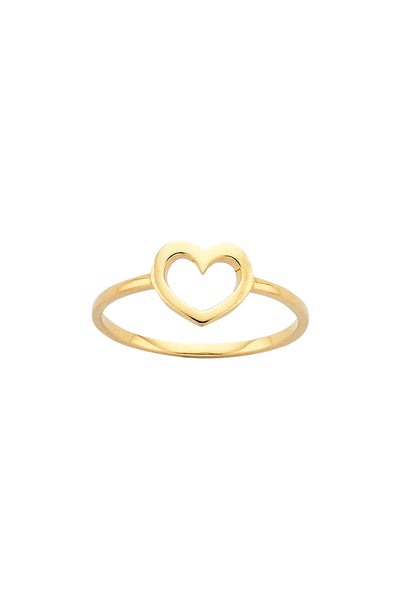 Karen Walker Mini Heart Ring - 9ct Gold